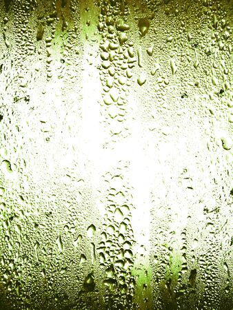 Sober green crystal wet surface background with cold liquid drops Stock Photo - 11988966