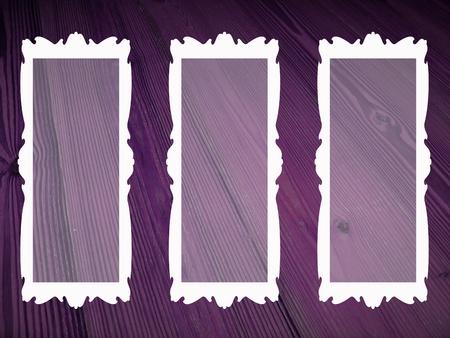 transparence: Transparence inside empty frames on old spruce wood background