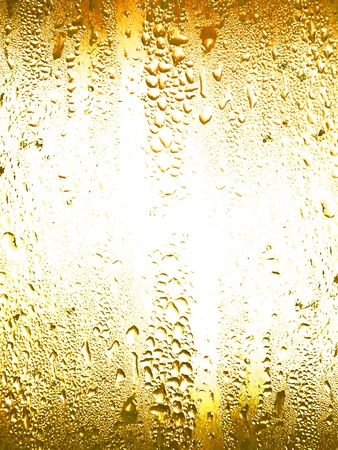Light yellow drink wet crystal background