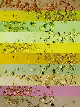 colortherapy: Sober multicolor greenish banners backgrounds with water splashs