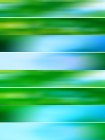 Green and blue mist blurs in banners backdrops sequence photo