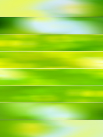 Light green blurred backgrounds with movement for animations Standard-Bild