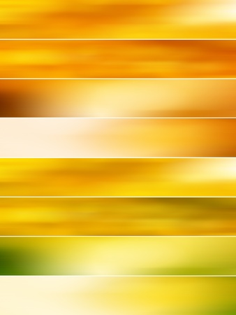 Golden blurs banners background photo
