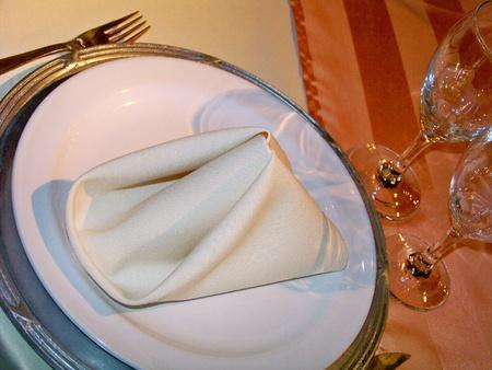 Wedding party elegant warm table detail photo