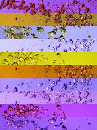Beautiful Spiritual liquid textures in gold and purple in movement in banners background