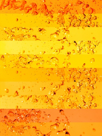 aurasoma: Sunshine sunny solarized waters in brilliant yellow  and orange backgrounds with drops