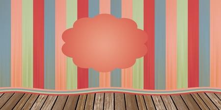 Coloridos viejecillo cortinas infantiles de teatro con el espacio vacío para el texto Foto de archivo - 12045596