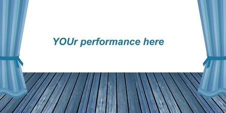 Vider scénario naïf dans le blues pour votre agissant Banque d'images - 12045634