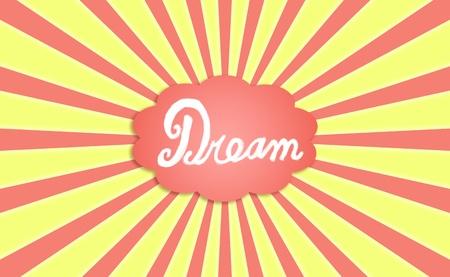 simetric: Dream, dreaming, cloud of dreams on a sunny sky Stock Photo