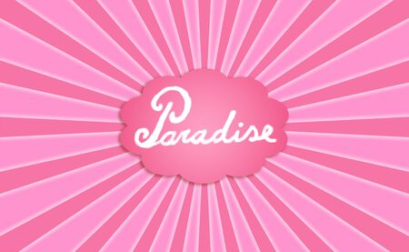 pinks: Paradise dream conceptual card background in pinks with radial rays Stock Photo
