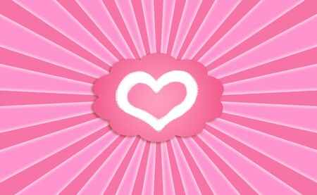 Idealized love valentines card pink background Stock Photo - 12126660