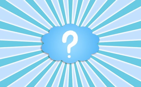 Questionmark, question, questions, ask, asking, blue background with rays