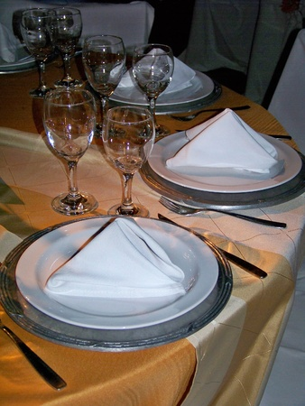 Luxury festive celebration table for dinner photo