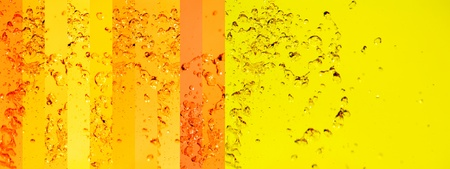 instrospection: Brilliant radiant background in yellow and gold liquid water animation