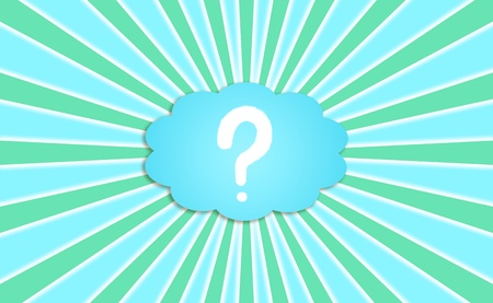 Explosion of questions in mind, concept, background