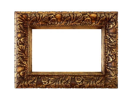 Anrique golden carved molding wood frame photo