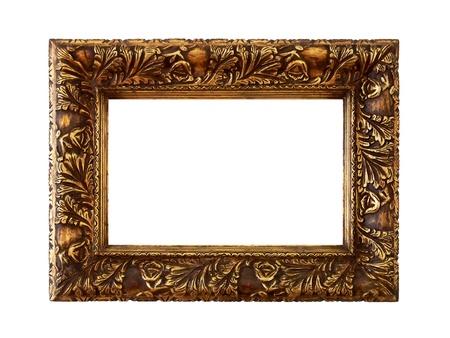 Anrique golden carved molding wood frame photo