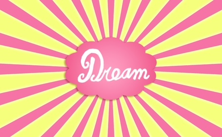 idealized: Dreaming a luminous radiant dream Stock Photo