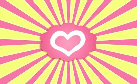 A love dream on a sunny sky background Stock Photo - 12126863