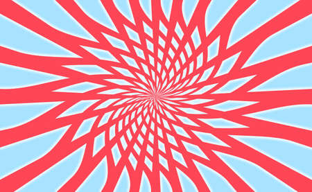 simetry: Rotating energetic web background in red, blue and white