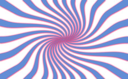 spiralized: Abstract background with blue and red spiral isolated on white