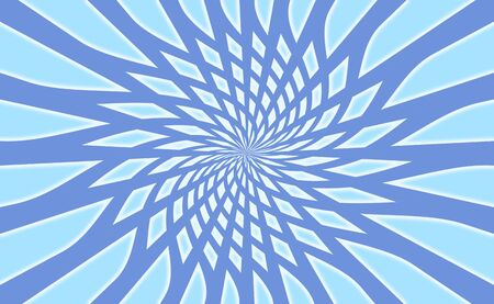 rotations: Radial concentric background web in blue