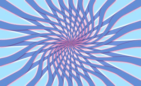 hypnotize: Abstract flower or web in radial rays background in blues
