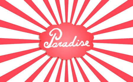 Funky funny abstract background of paradise dream in red and white photo