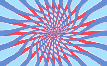 spiralized: Radial psychedelic patriotic background Stock Photo