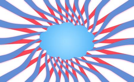 spiralized: American dream background Stock Photo