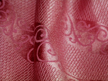 magentas: Background of luxury shinny pink silk fabric detail with an elegant pattern design