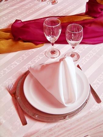Elegant, table, elegance, tablecloth, tableware, warm, restaurante photo