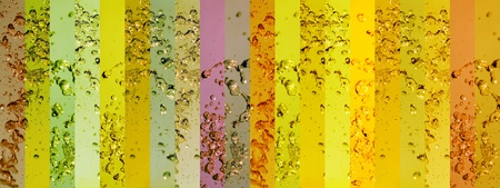 instrospection: Greens, green, yellow, yellows, background, backgrounds, banner, banners, water, drop, drops, splash  Stock Photo