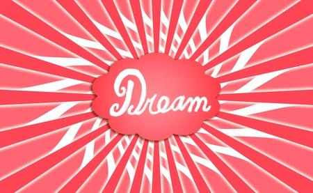 Dream generator swirling background in red and white photo