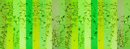 instrospection: Light green and greens palette banners background with liquid splash in movement for animated backgrounds