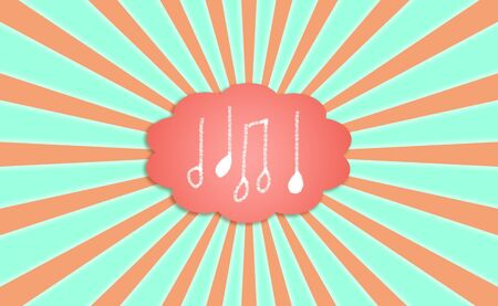 rotations: Melodic background dreaming with music notes