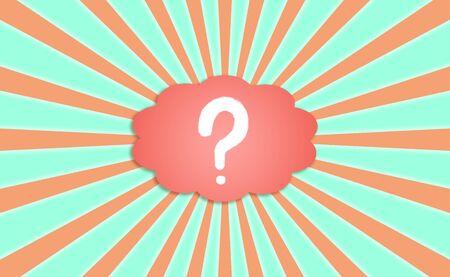 Saine notion intérieure des questions sur le fond positif rayonnante Banque d'images - 12426906