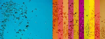 Brilliant summer colors background with water drops moving Stock Photo - 12426926