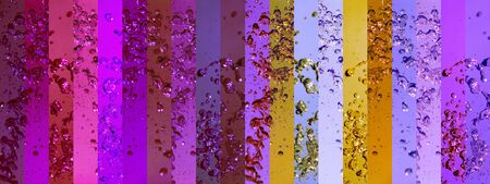 colortherapy: Colorful splashing banners backgrounds in a long background