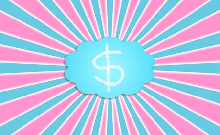 Attractive background with dollars or money symbol at the center generating and spreading energy through rays photo