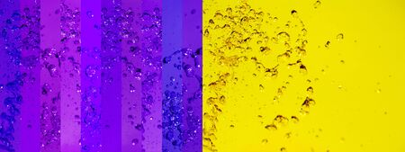 instrospection: Powerful intense contrast of yellow and violet backgrounds in one enjoyable intense background