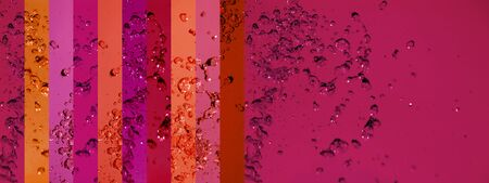 instrospection: Warm dark red and pinks background with liquid drops splashing Stock Photo
