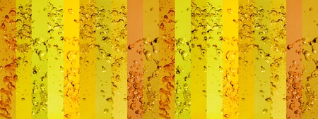 Yellow palette in a large background with banners of splashing drops in movement to animate Stock Photo - 12427002