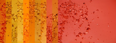 instrospection: Orange palette with rain drops splash in a warm background with banners