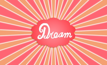 rotations: Happy dream radiating positive vibes, conceptual image background Stock Photo