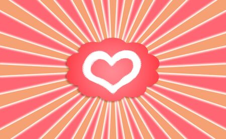 positive thought: Love thought form in red balloon radiating positive feelings