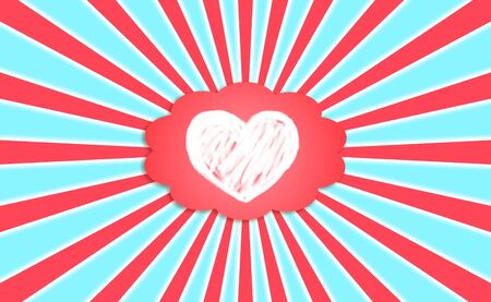simetric: Love dreams, hope, positivism, heaven Stock Photo