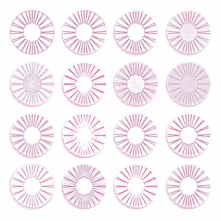 Dried wine glass stains, spots and drops traces isolated group Stock Photo - 12427091