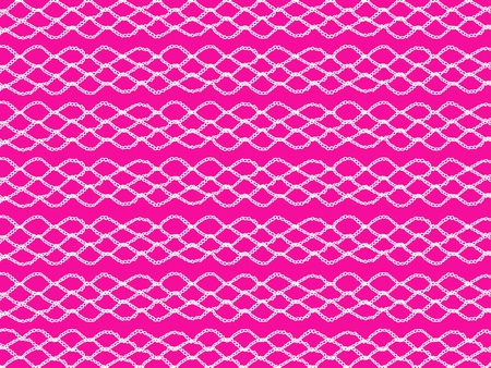purls: Fuchsia background with white delicated crochet chain texture Stock Photo