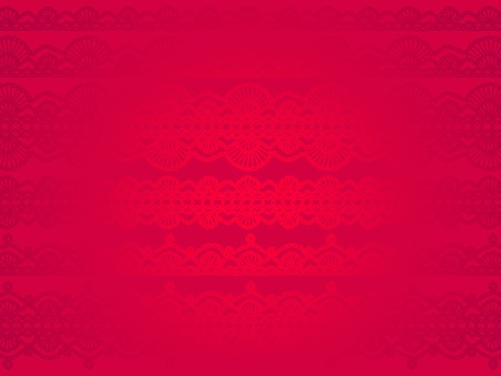 Beautiful bright elegant red background with subtle crochet pattern with silky glitter   photo
